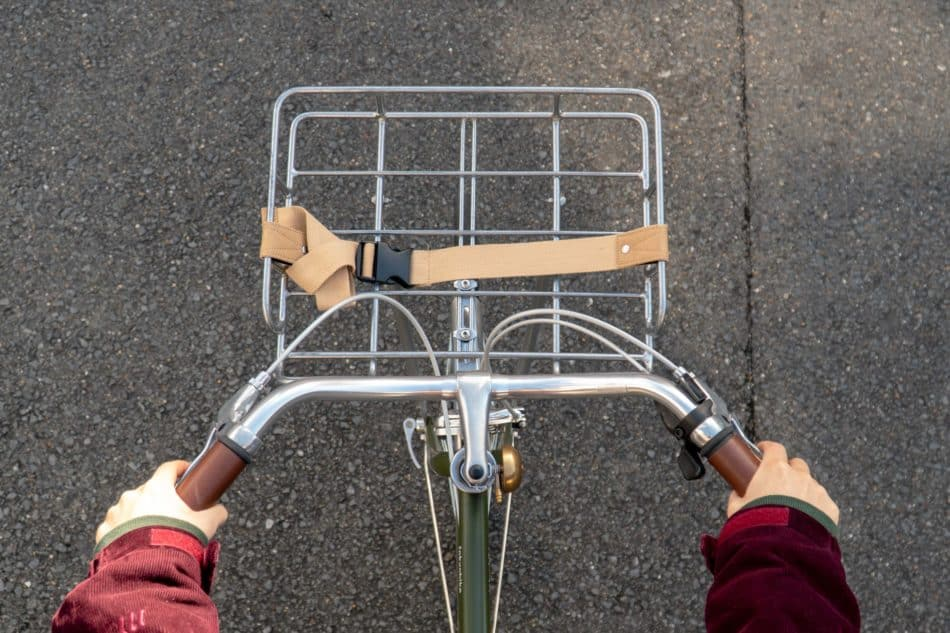 荷物をのせてゆったり通勤・通学できる自転車カスタム
