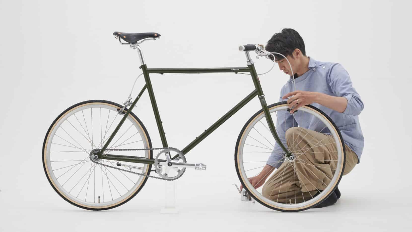 世界に一台、あなただけの自転車を作りましょう。TOKYOBIKE MONOをベースに、映画に出てくるようなクラシカルなカスタマイズを施しました。