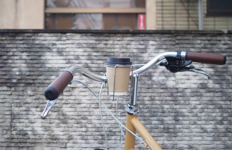 コーヒーを自転車で運べるレトロケージ