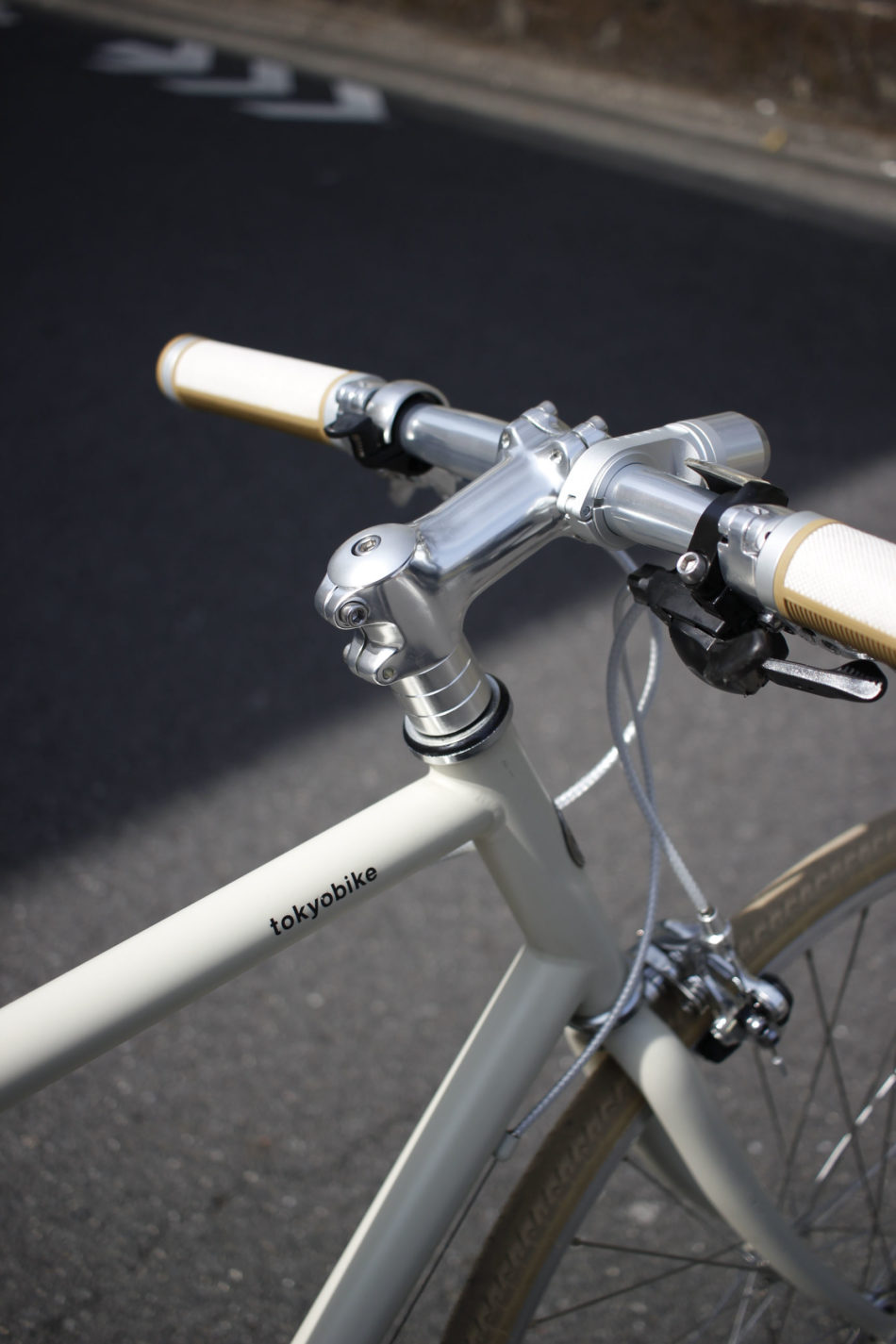 自転車 ハンドル シンプル ストレート