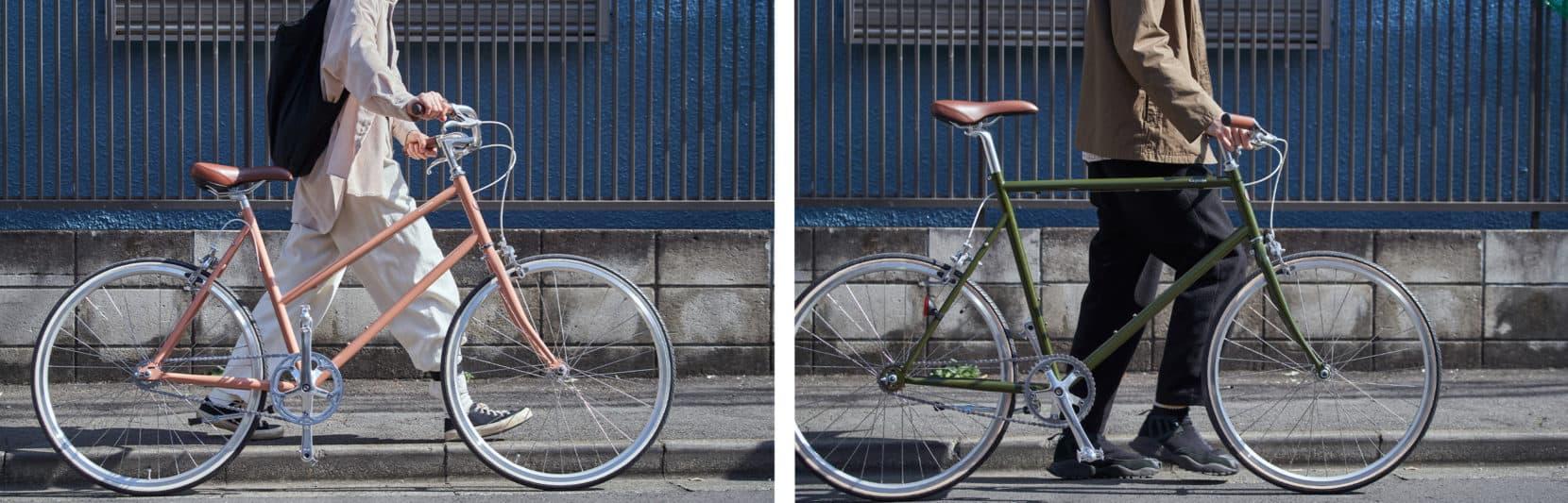 自転車で休日デート TOKYOBIKE MONO LEGER